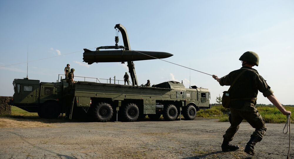 Deployment of an Iskander-M tactical missile system
