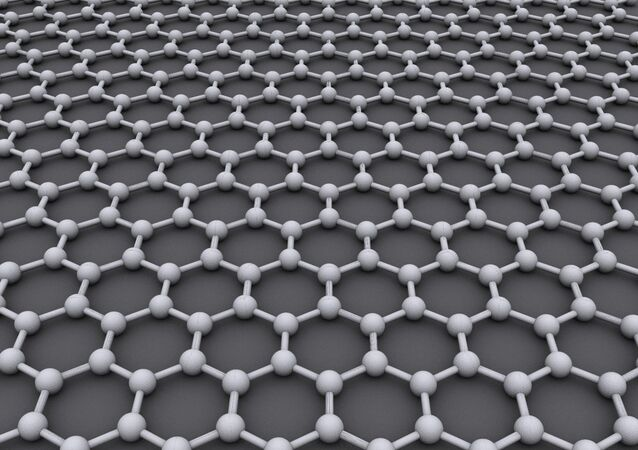 The ideal crystalline structure of graphene is a hexagonal grid