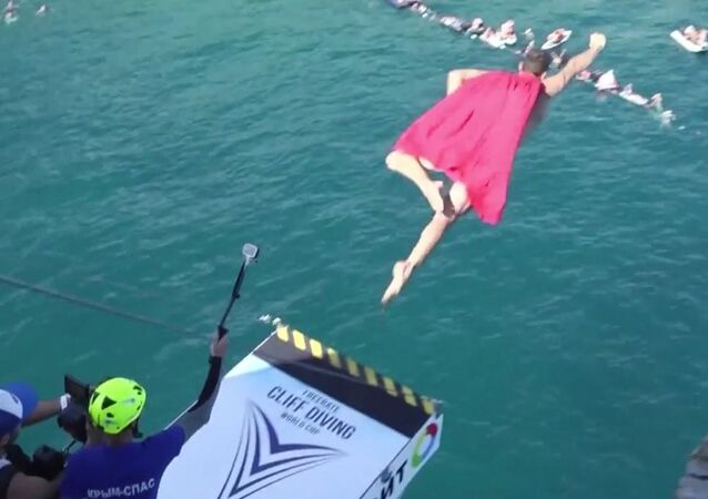 Freerate Cliff Diving Competition In Crimea