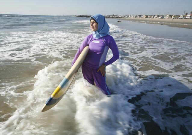 Muslim woman in swim wear, file photo