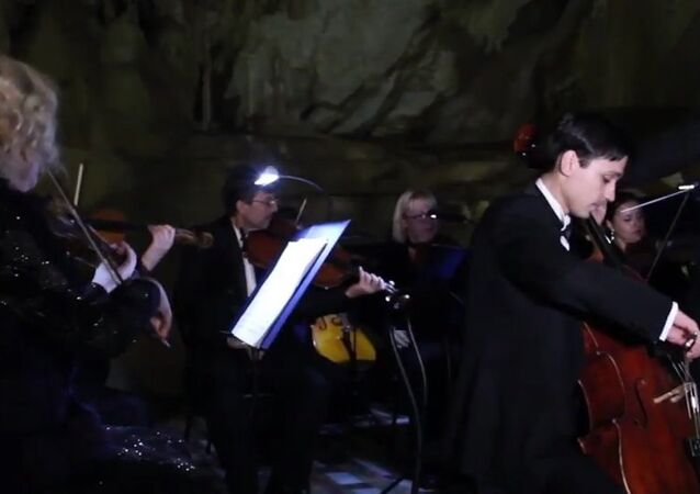 Classical Music Concert in Marble Cave in Crimea