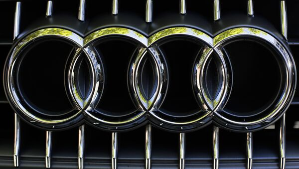The sign of German car company Audi photographed at the front of a car in Berlin, Germany, Monday, Sept. 28, 2015. - Sputnik International
