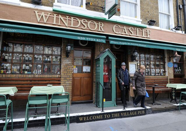 The Windsor Castle pub is pictured in central London, on March 16, 2011