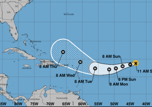 US National Hurricane Center Hurricane Irma tracking projection September 2, 2017