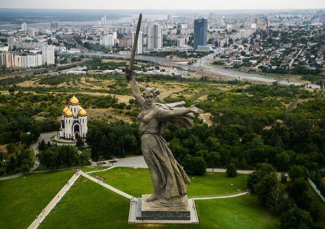 The Motherland Calls, Mamayev Kurgan, Volgograd, Russia