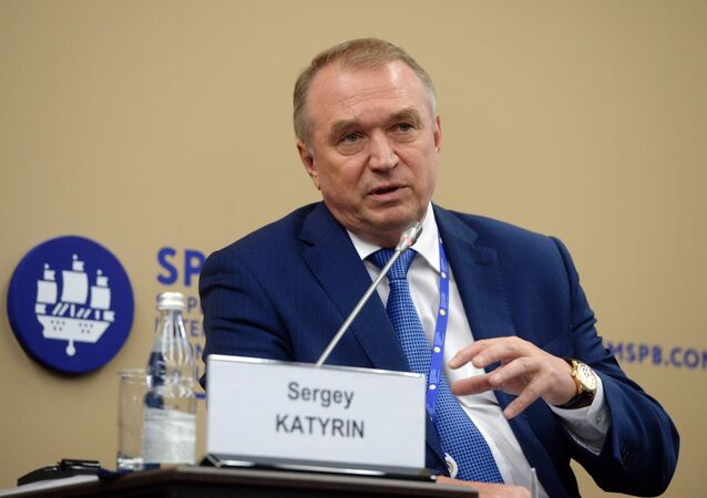 Sergey Katyrin, President of the Chamber of Commerce and Industry of the Russian Federation (File)