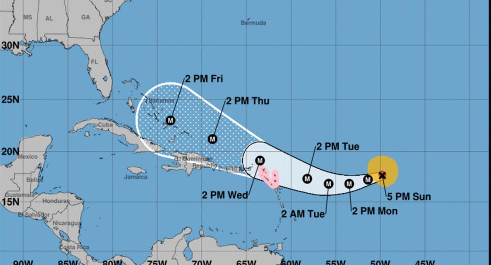 US National Hurricane Center Hurricane Irma tracking projection September 3, 2017