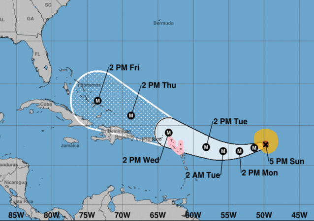 US National Hurricane Center Hurricane Irma tracking projection September 3, 2017