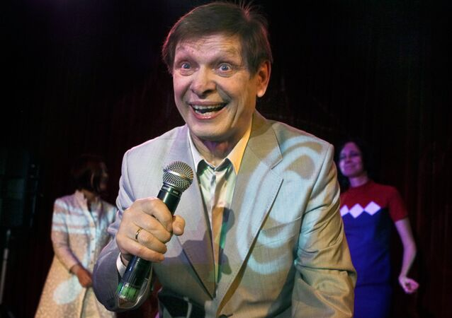 Singer Eduard Khil live in concert at 16 Tons Club, Moscow, 2010