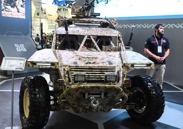 The Chaborz M-6 buggy on the stand of the Chechen Republic at the Army 2017 International Military-Technical Forum, Moscow Region