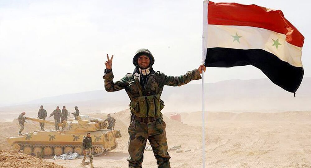 The Syrian army servicemen, broke the three-year siege of Deir ez-Zor, in the area of the 137th mechanized brigade in Syria