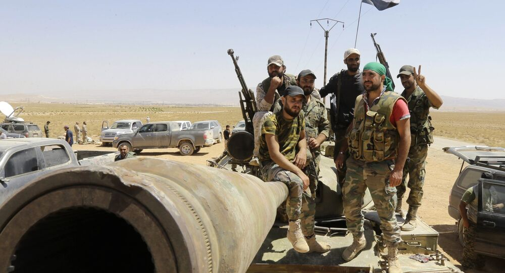 Syrian army fighters