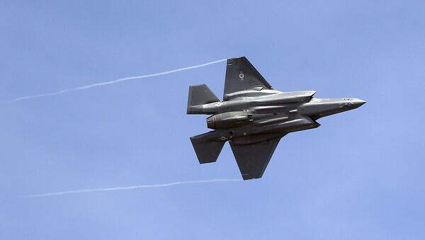 In this Wednesday, Sept. 2, 2015, file photo, an F-35 jet arrives at its new operational base at Hill Air Force Base, in northern Utah. - Sputnik International