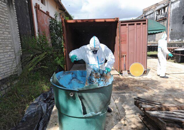 Toxic waste. (File)