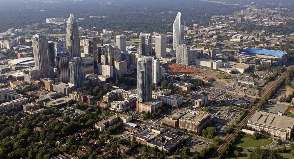 Skyline of downtown Charlotte, North Carolina.