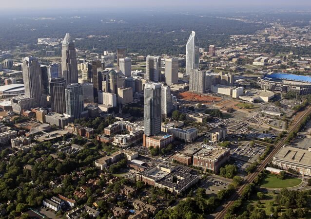 Skyline of downtown Charlotte, North Carolina.
