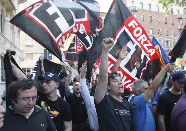 Forza Nuova extreme right wing party activists. (File)