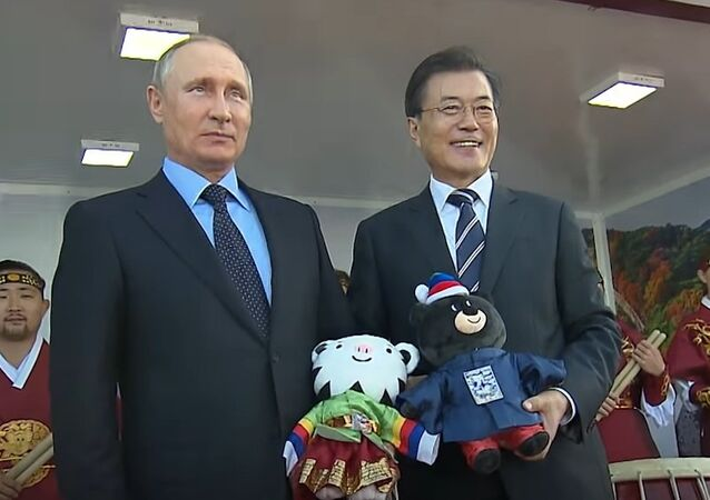 President Putin Receives 2018 Olympic Symbols As Gift