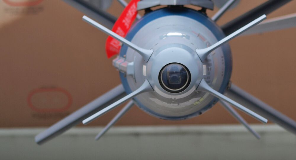 An Israeli Rafael Spice guided bomb