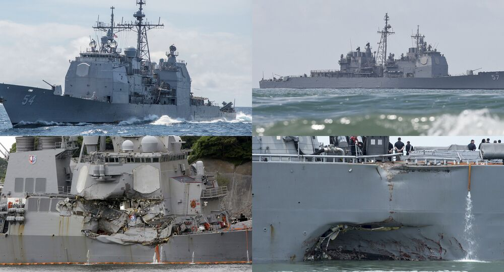 US Navy's Accidents in the Pacific Ocean