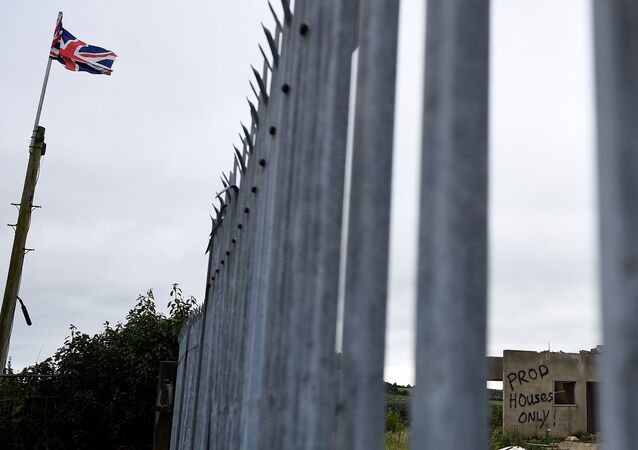 A general view shows an area near the Northern Ireland and Ireland border in Newbuildings, Northern Ireland August 16, 2017