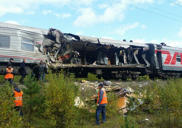 Passenger train crashed into a truck
