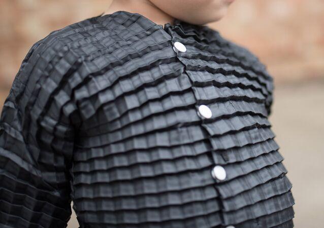 clothing sample from award-winning designer Mario Yaain from Pete Pli company website