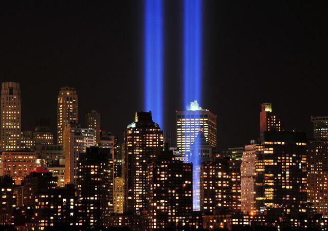 World Trade Center 9-11 Tribute of Light 2012