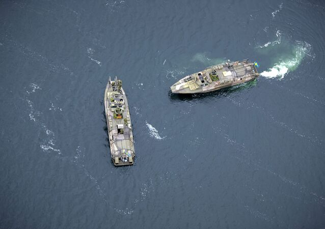 Two Swedish Navy fast-attack craft patrol in the Stockholm Archipelago, Sweden. (File)