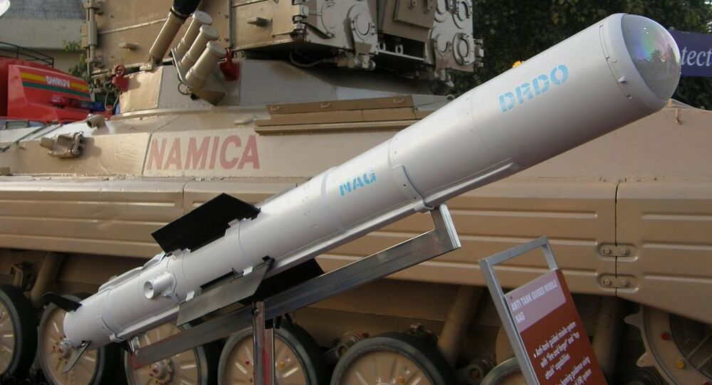 Nag missile and the Nag missile Carrier Vehicle (NAMICA)