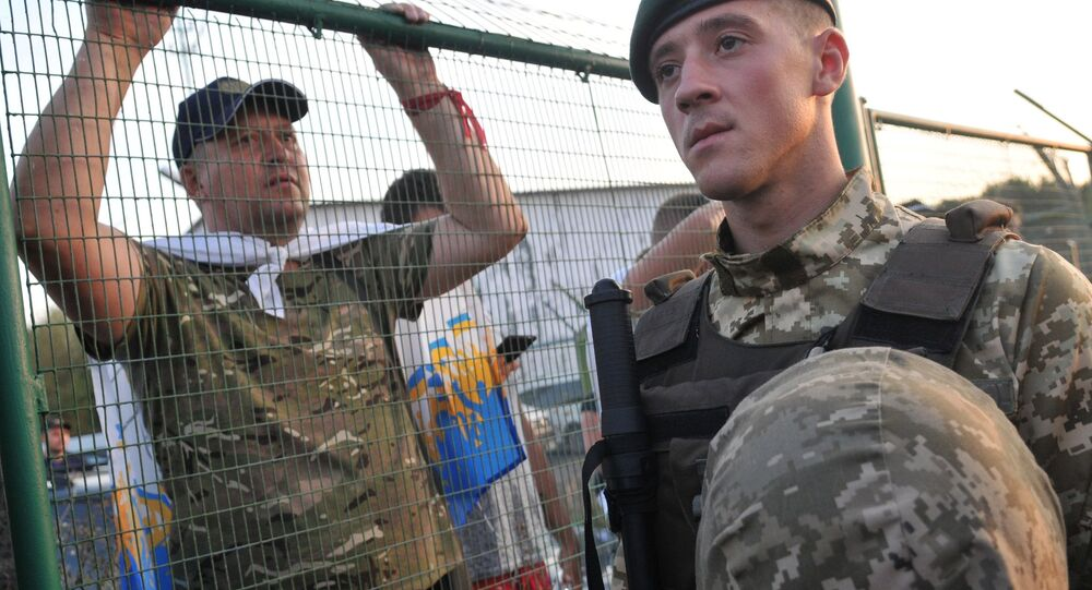 The Shehyni checkpoint on the Ukrainian-Polish border, where Mikheil Saakashvili, Georgia's ex-president and former governor of the Odessa region, intends to cross into Ukraine