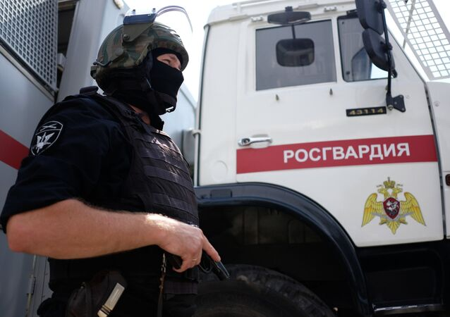 A staff member of the Special Purpose Police Unit of the Russian National Guard Main Administration
