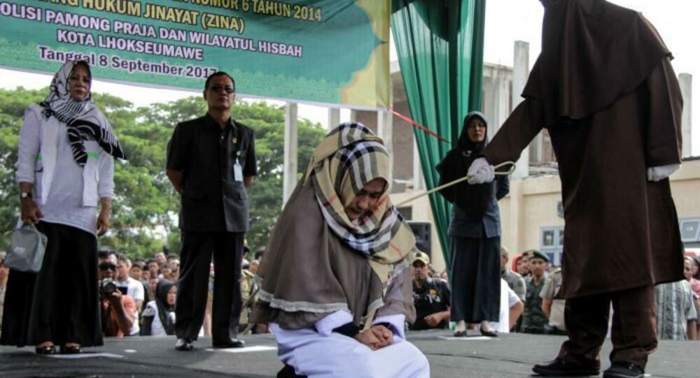 Indonesian Woman Caned
