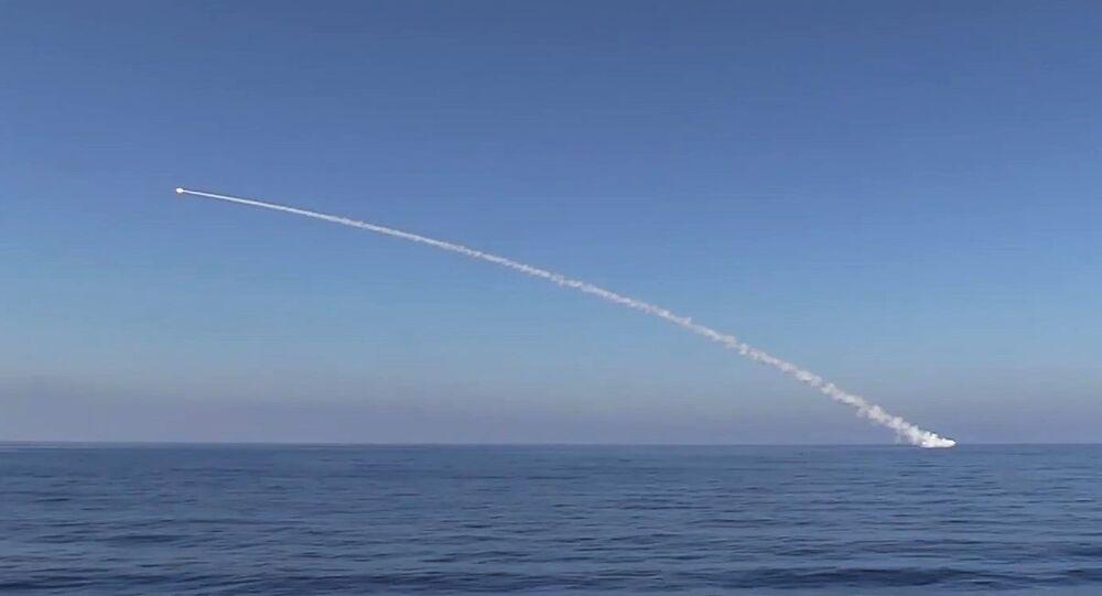 Kalibr cruise missile at Daesh facilities. (File)