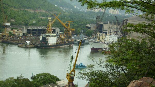 A view of the Hindustan Shipyard in Visakhapatnam - Sputnik International