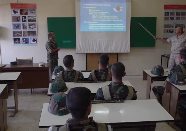 Syrian Mine Squad Trained By Russian Servicemen