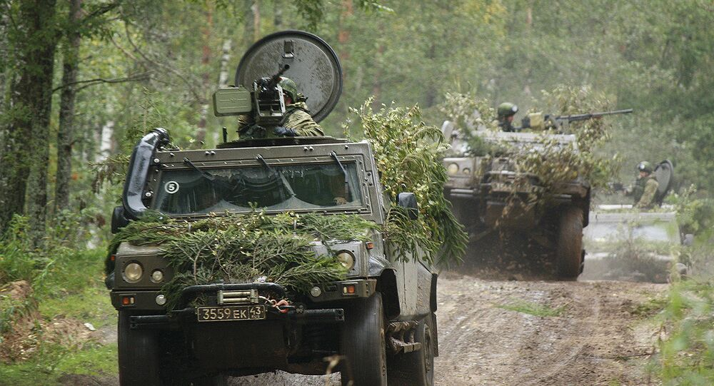 Russian Airborne units carry out ground reconnaissance in course of the Zapad 2017 strategic exercise