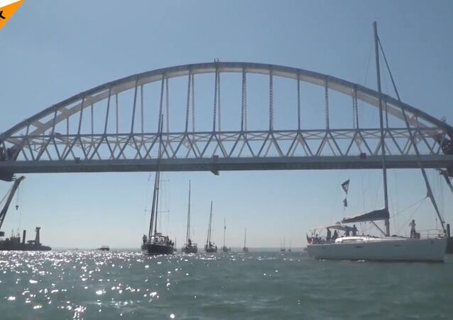 The Regatta Was Held Under The Crimean Bridge