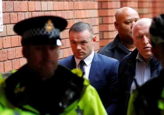 Wayne Rooney, Everton striker and former England captain arrives at Stockport Magistrates court, Stockport, Britain September 18, 2017