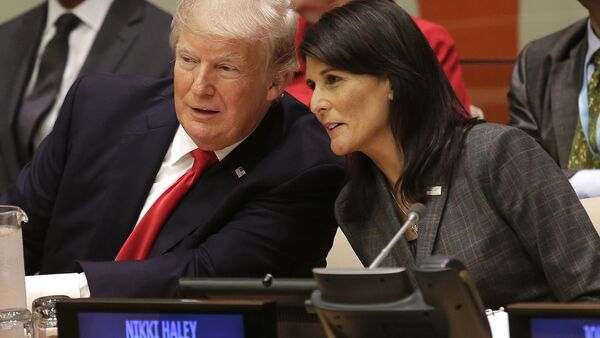 Donald Trump Nikki Haley United Nations - Sputnik International