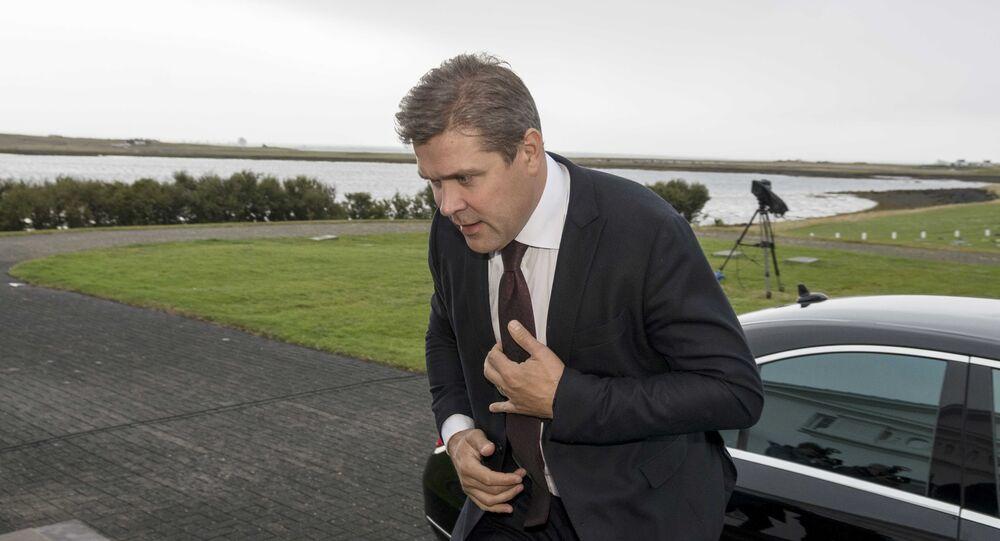 Iceland's Prime Minister Bjarni Benediktsson arrives at the Presidential residence in Bessastadir, Iceland September 16, 2017