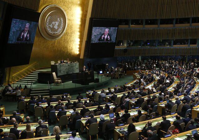 United Nations Secretary General Antonio Guterres addresses the 72nd United Nations General Assembly at U.N. headquarters in New York, U.S., September 19, 2017