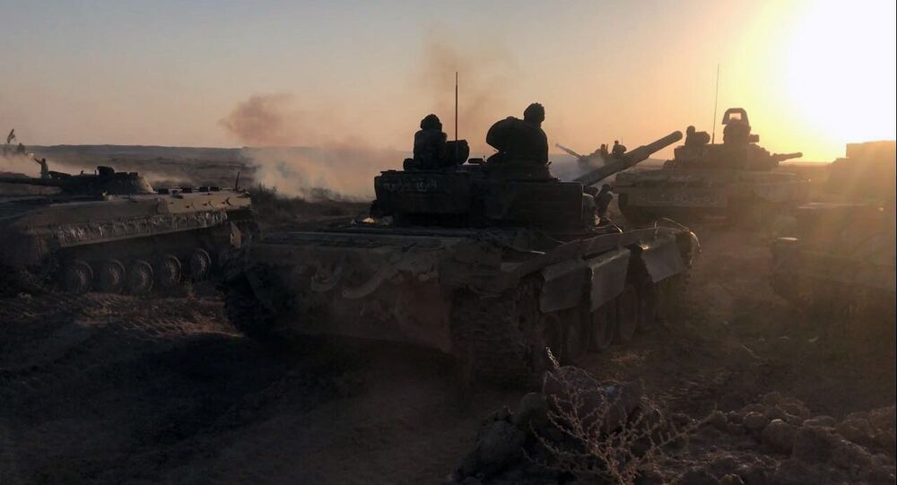 Tanks of the Syrian Army.