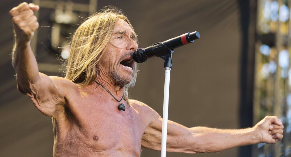 Iggy Pop performs at FYF Fest Day 3 at Exposition Park on Saturday, July 23, 2017, in Los Angeles