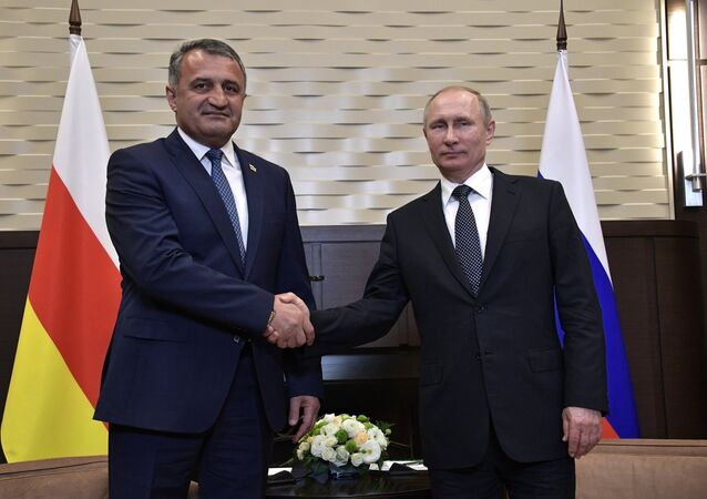 President Putin meets with President of South Ossetia Bibilov (File)
