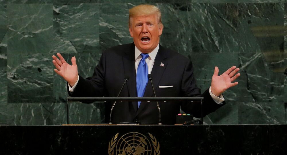 U.S. President Donald Trump addresses the 72nd United Nations General Assembly at U.N. headquarters in New York, U.S., September 19, 2017