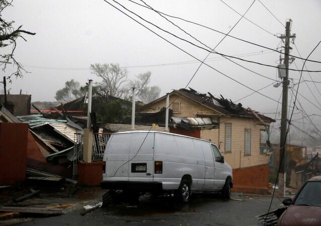 Damage is seen after the area was hit by Hurricane Maria in Guayama, Puerto Rico September 20, 2017.