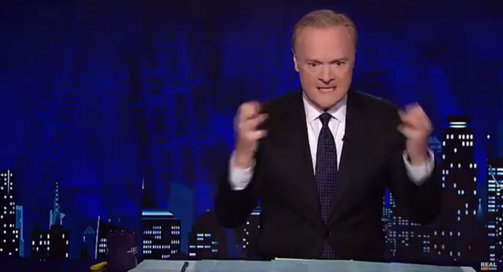 Footage shows MSNBC anchor Lawrence O'Donnell lose his temper