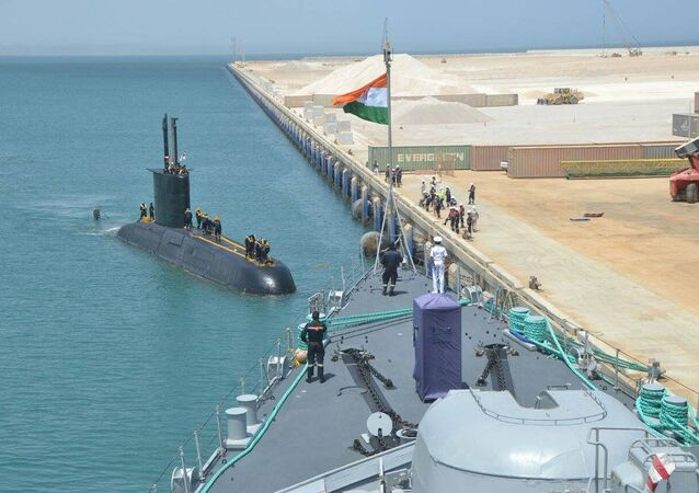 INS Shishumar (SSK class sub) of IN enters Port of Duqm Oman for an Operational Turn Around