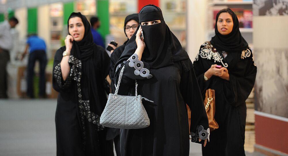 Saudi visitors attend the Riyadh International Book Fair on March 5, 2013 in the Saudi capital.